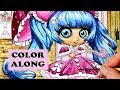 Chibi Girls Coloring Book Color Along Tutorial in Watercolor