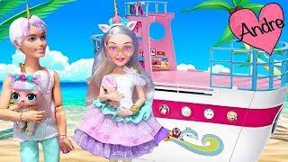 Aventuras de la familia LOL Unicornio!!! Jugando muñecas y juguetes con Andre para niñas y niños