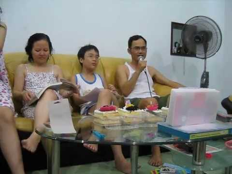 Minh Quân đọc diễn văn dịp sinh nhật Long, 8-6-2015,