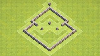 Clash of Clans | TH3 Farming Base (Mortar Centralised)