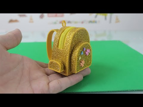 How to make Miniature Backpack Schoolbag