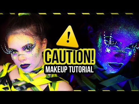 ⚠️CAUTION! ⚠️ Halloween UV Makeup Tutorial *EASY* (deutsch) | #spooktober