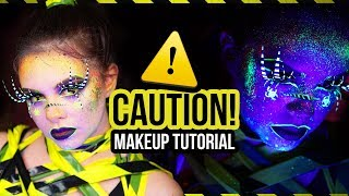 ⚠️CAUTION! ⚠️ Halloween UV Makeup Tutorial *EASY* (deutsch) | #spooktober