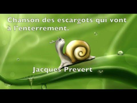 Poésie ...Chanson des Escargots qui vont à l'enterrement ... 🐌Jacques Prévert ...🐌