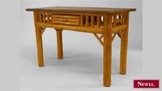 Antique American Rustic Adirondack Painted Cedar Table