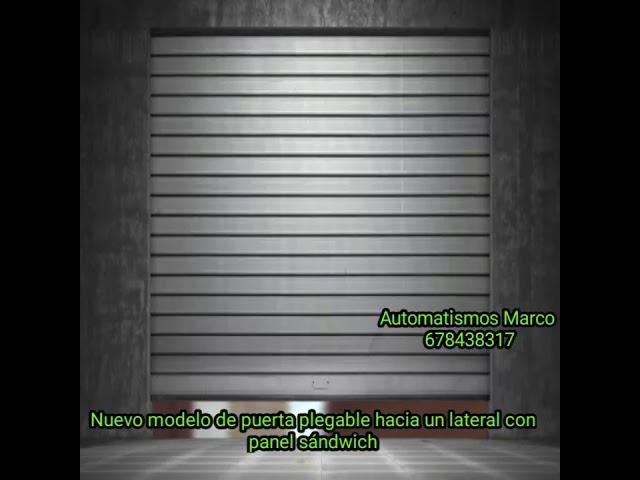 Puerta automatica plegable lateral fabricada por automatismos marco en Algeciras