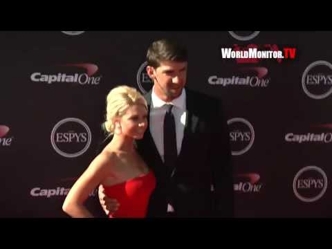 Michael Phelps arrives at ESPY Awards 2013 with new girlfriend Win McMurry