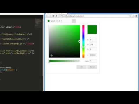 DevExpress DevExtreme: HTML5 Color Picker