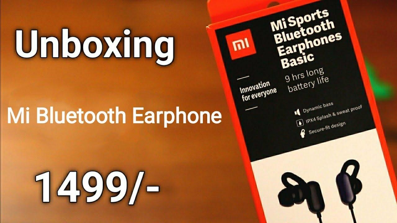 Mi Sports Bluetooth Earphones Basic Unboxing Amazon Best Bluetooth Earphone Under 1500 Mi Earphone Youtube