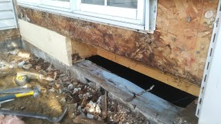 how to replace a rotten rim joist