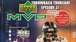 1999 Upper Deck MVP Football Hobby Box. Throwback Thursday Episode 37