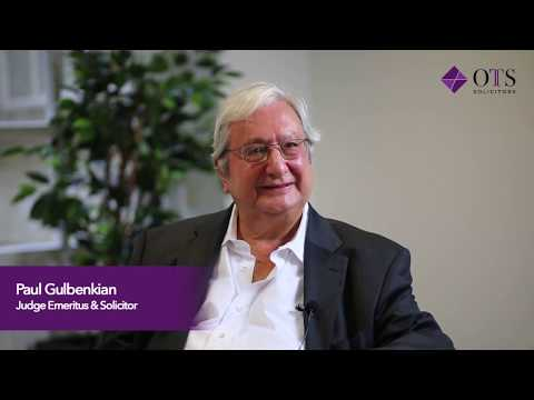 The Story of Mr Paul Gulbenkian- Senior Consultant at OTS Solicitors