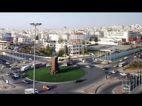 Drive through The New 7th Circle Traffic Area In Amman Jordan 2014 :: جولة في منطقة الدوار السابع