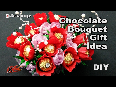 how-to-make-a-chocolates-bouquet-|-ferrero-rocher-candy-stand-|-festival-gift-idea-|-jk-arts-1181