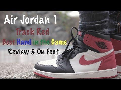 5914b5e618a548 Air Jordan 1 Track Red Review   On Feet