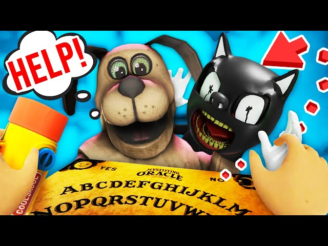 Secret Ouija Board summons CARTOON CAT in DUCK SEASON!! (Duck Season VR MODS)