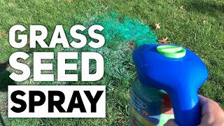 Grass Seed - Spray Grass Seed with Hydro Mousse Liquid Lawn