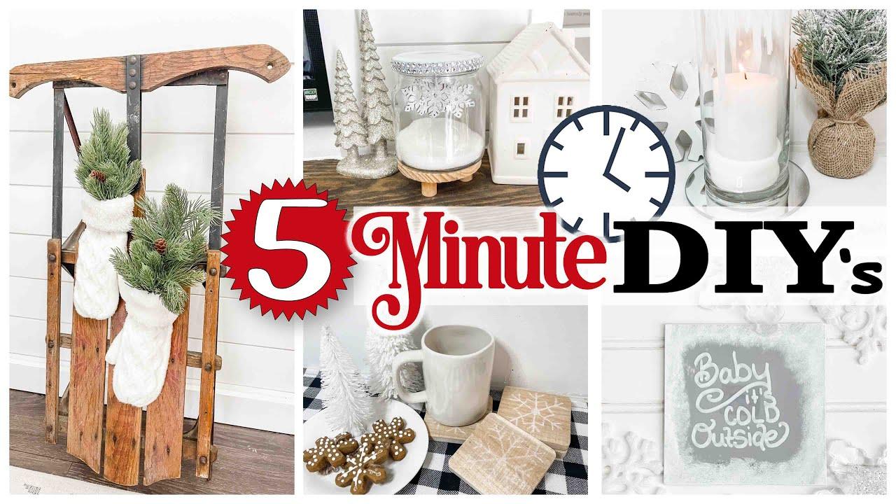 5-Minute WINTER Home Decor ❄️ DOLLAR TREE DIY 🎄 Christmas DIYs