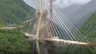 9人死亡の悲劇が起きたコロンビアの道路橋、爆破処分に