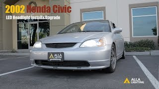 1996-2002 Honda Civic H4 LED Headlight Bulbs Upgrade & Install