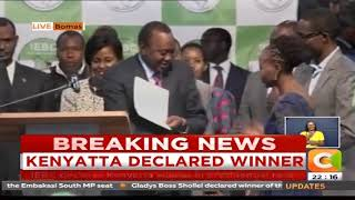 UHURU IT IS! President Kenyatta floors Odinga to win second term