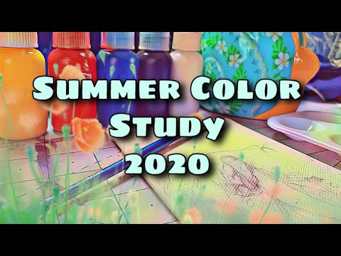 Limited Pallet Primary Color Study | Art Tips For Beginners | Dutch Girl Landscape Painting