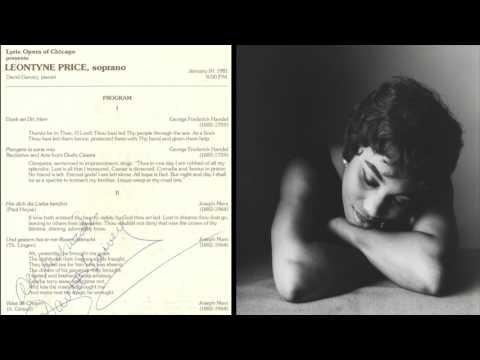 Leontyne Price RARE 1981 Live at Lyric Opera of Chicago (Schumann, Handel, Puccini, Rorem, Hoiby)