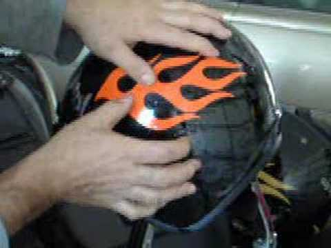 Installation Of Flame Decals On A Motorcycle Helmet YouTube - Custom motorcycle helmet decals