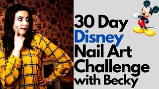 Disney Nail Art Challenge Day 1- Easy Mickey Mouse Tutorial