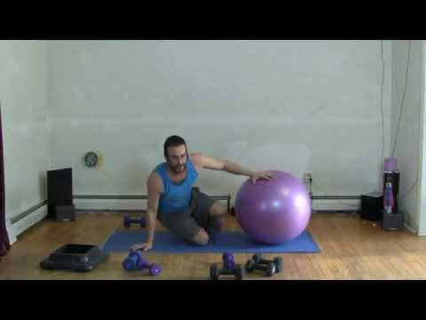"""""""Power-Ball"""" At Home Swiss Ball workout, with Dumbbells"""