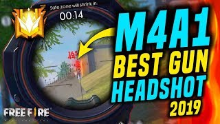 Best Gun M4A1 For Auto Headshot 2019 - Garena Free Fire - Total Gaming