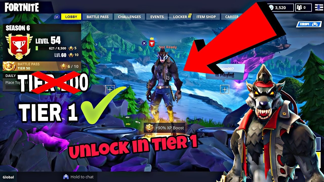 How To Get Dire Skin Without 100 Tier Level New Fortnite Glitches