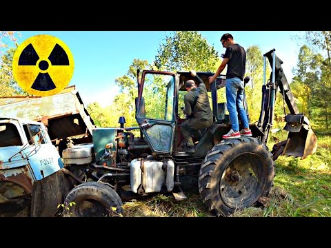 ✅Как мы укатили трактор в Чернобыльском лесу у марадёров