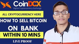 CoinDCX[DCXINSTA] How to sell Bitcoin or any cryptocurrency on Bank || within 10 mins [Hindi]