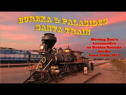 Moving Dan Markoff's amazing locomotive Eureka and Palisades #4 to Bolder Nv.