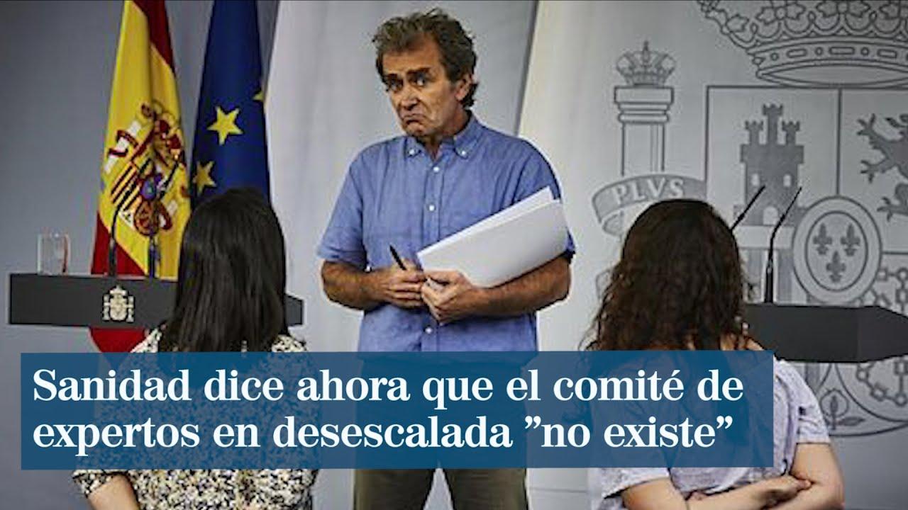 "El comité de expertos en desescalada ""no existe"": Mentiroso"