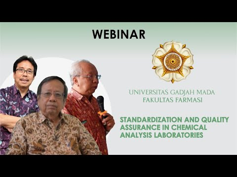 Webinar On Standardization And Quality Assurance In Chemical Analysis Laboratories