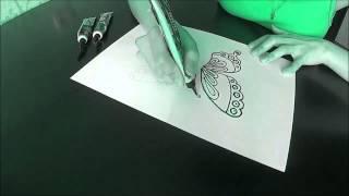 МАСТЕР КЛАСС №1. Рисунок хной для биотату на бумаге