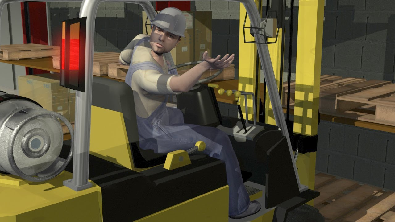 Forklift accidents logistics industry safety animation caema