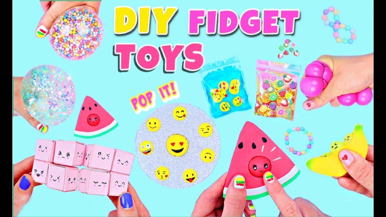 10 DIY FIDGET TOYS IDEAS -  Viral TikTok  Fidget Toys Compilation - Emoji POP IT Toy and much more!