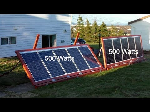 DIY Ground mounted Solar Panels with adjustable angles