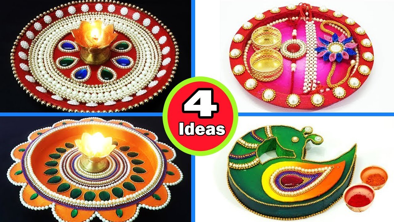 4 Easy Rakhi Thali Decoration Ideas for 2019 - How to Decorate Rakhi Thali at Home | StylEnrich