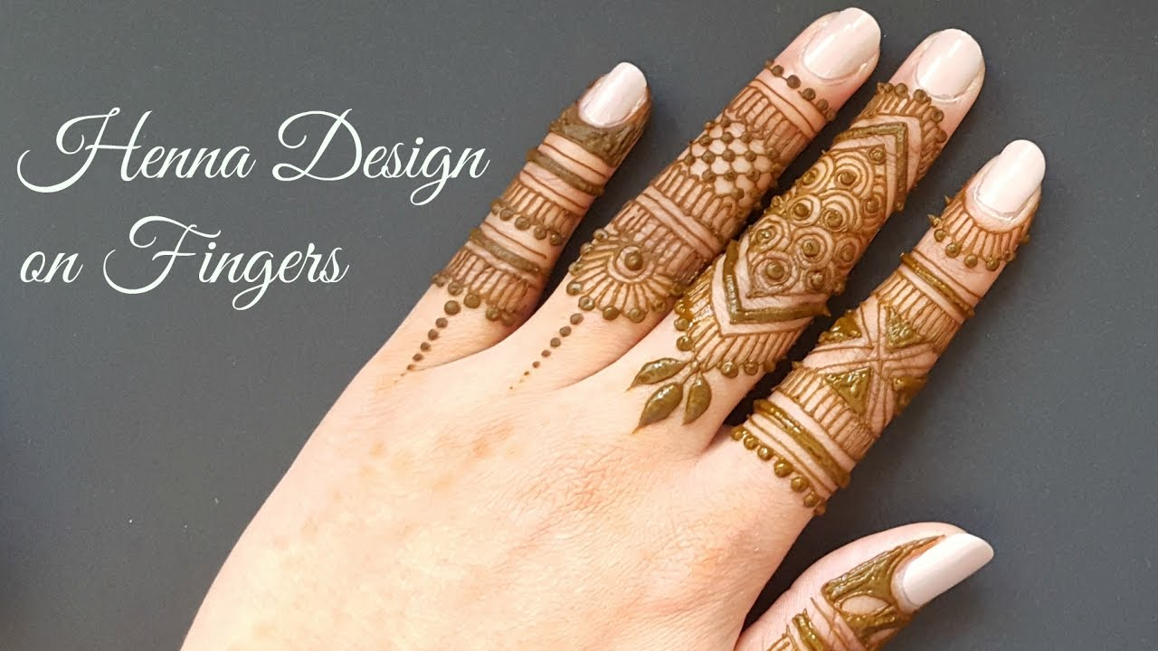 Easy Diy Mehndi Henna Design On Fingers Youtube