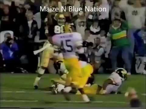 Notre Dame vs Michigan 1990 Highlights