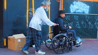 Rich VS Poor Wheel Chair Social Experiment