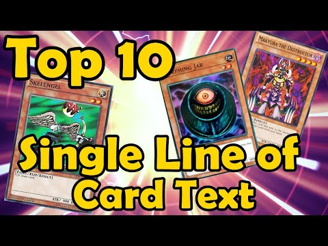Top 10 Monsters With A Single Line Card Effect In YuGiOh
