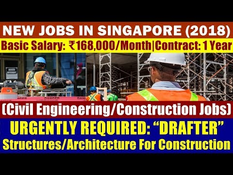 "Jobs In Singapore: ""Drafter"" (Civil Engineering / Construction Jobs) 