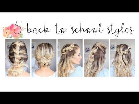 5 Easy Back-to-School Hairstyles | Cute Girls Hairstyles