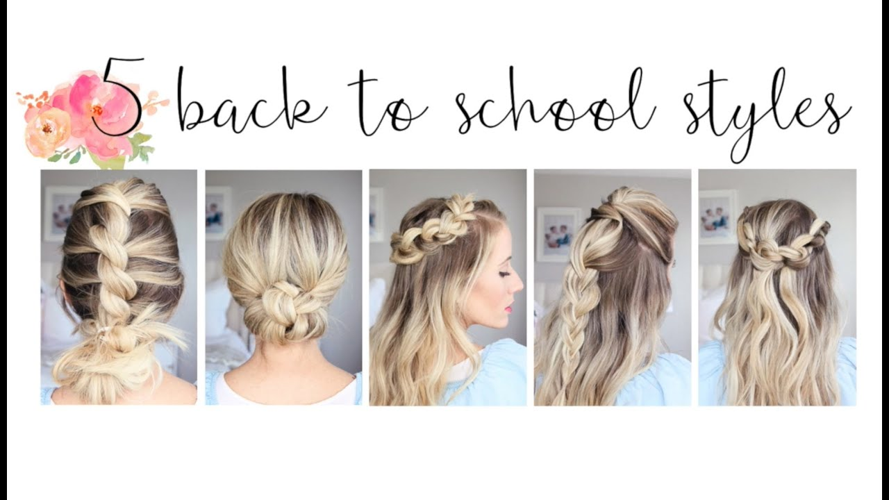 5 Easy Back To School Hairstyles | Cute Girls Hairstyles   YouTube