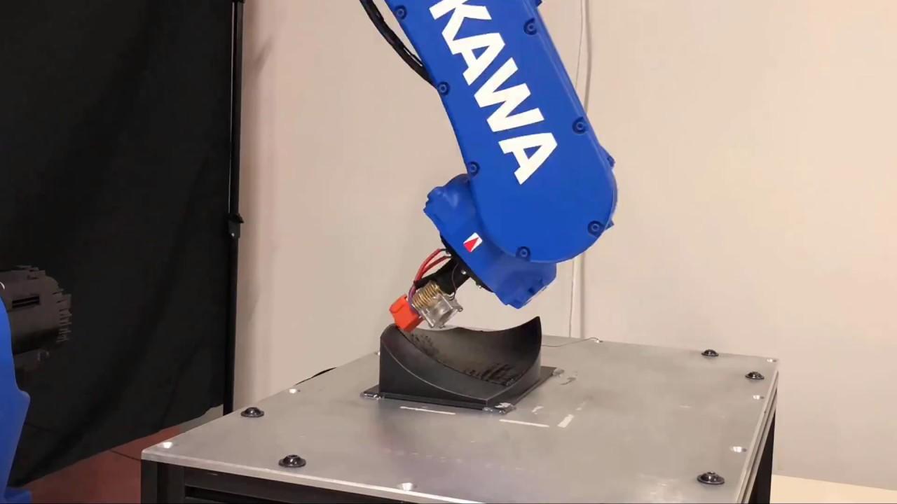 Non-planar 3D printing using Yaskawa Motoman GP12